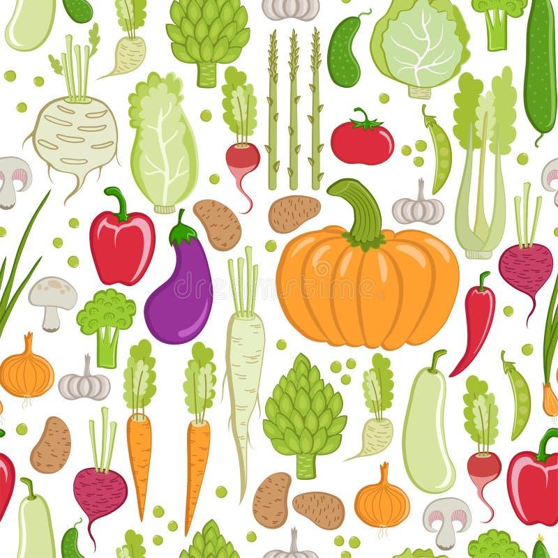 mönstrad grönsaken stock illustrationer