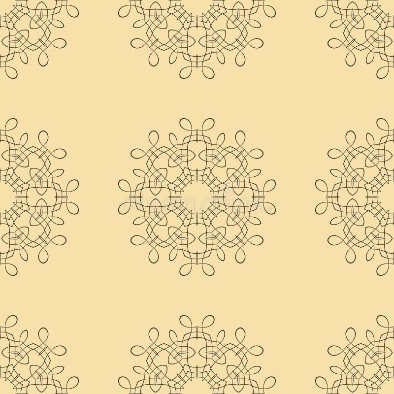 mönstrad seamless tappning royaltyfri illustrationer