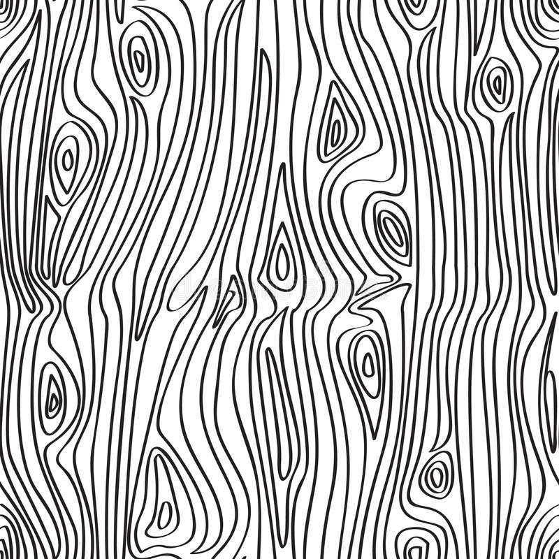 mönstrad seamless trä royaltyfri illustrationer