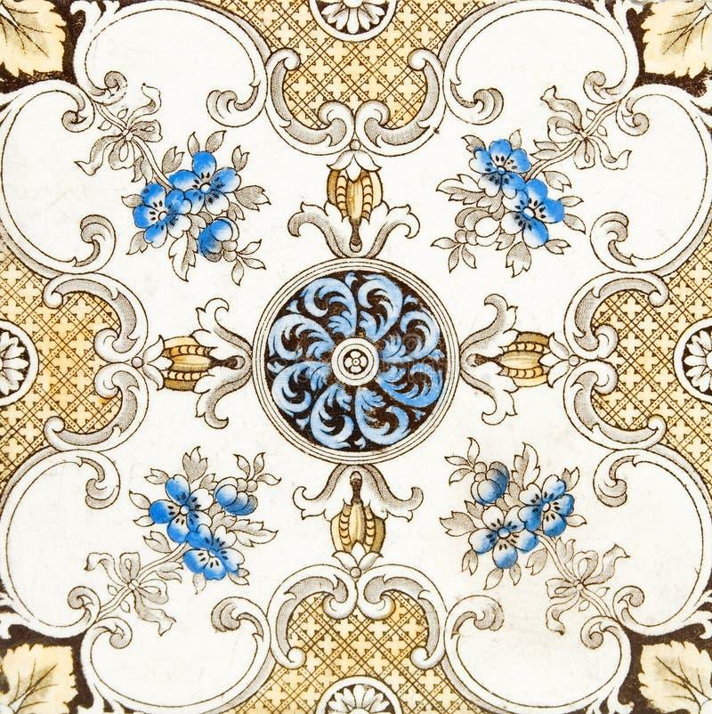 mönstrad tegelplattavictorian royaltyfri fotografi