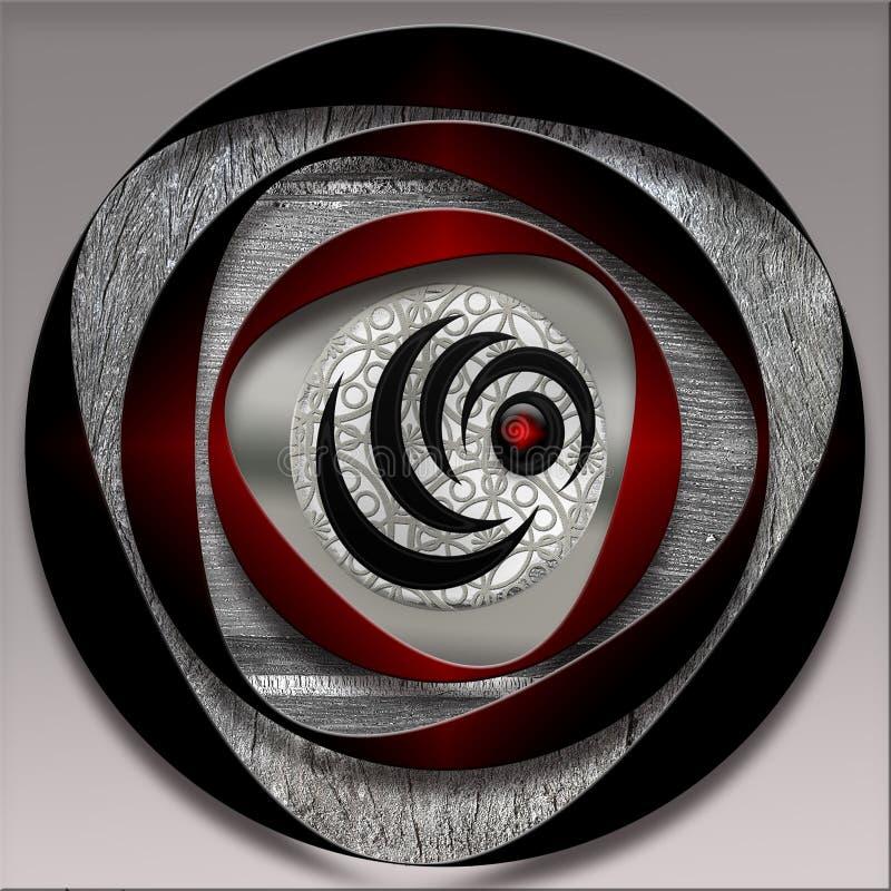 Mönstrade emblem stock illustrationer