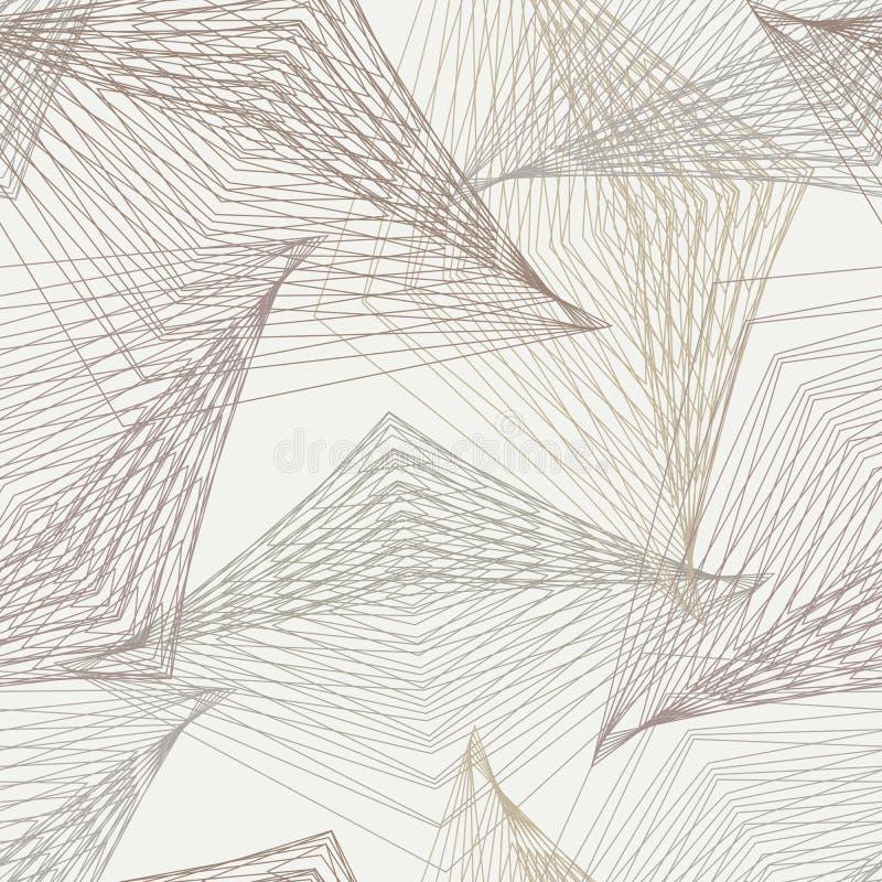 mönstrar den moderna geometriska art déco för 30-tal royaltyfri illustrationer