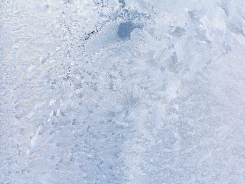Is mönstrar på vinterexponeringsglas royaltyfri fotografi