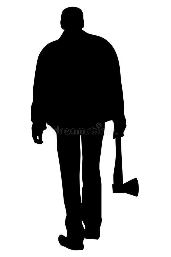 Mördareman stock illustrationer