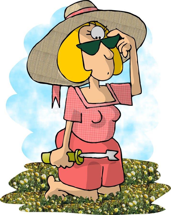 Download Mördareweed stock illustrationer. Bild av arbete, weed, kvinnlig - 47885