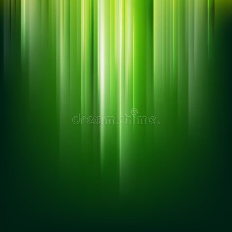 Mörk abstrakt grön magisk ljus bakgrund 10 eps stock illustrationer