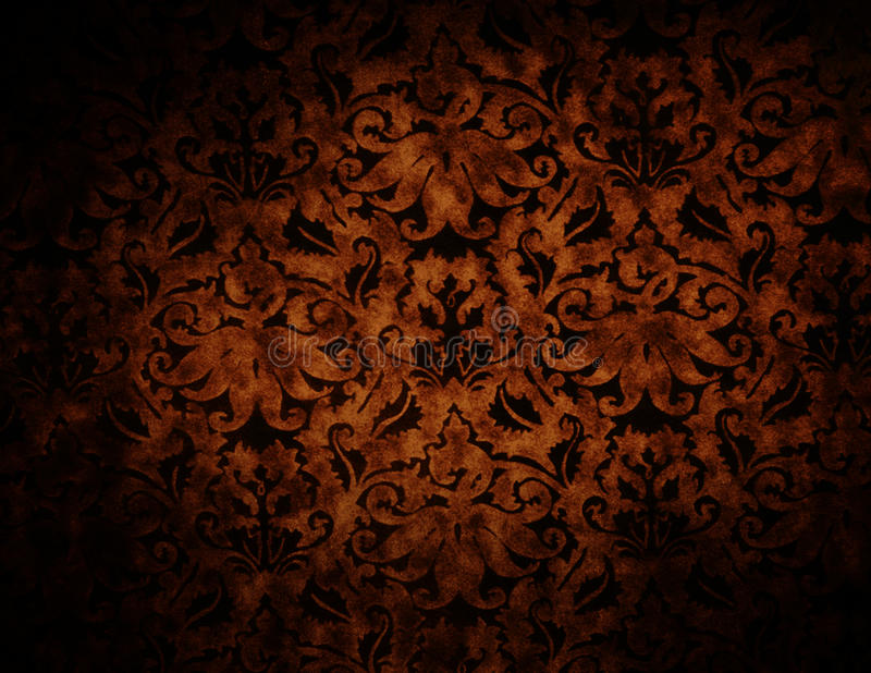 Mörk bakgrund för abstrakt begrepp för modell för chokladfärgbrokad royaltyfria foton