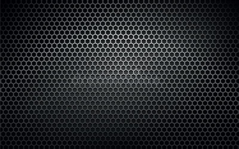 Mörk bakgrund för metallvektortextur royaltyfri illustrationer