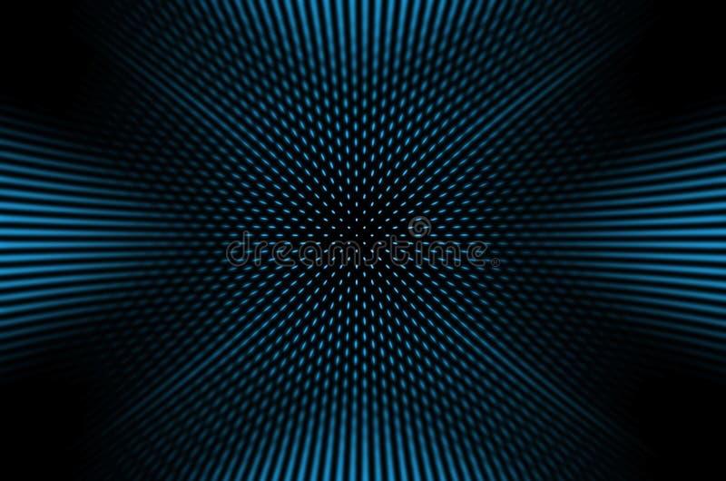 Mörk bakgrund med blåa prickar stock illustrationer