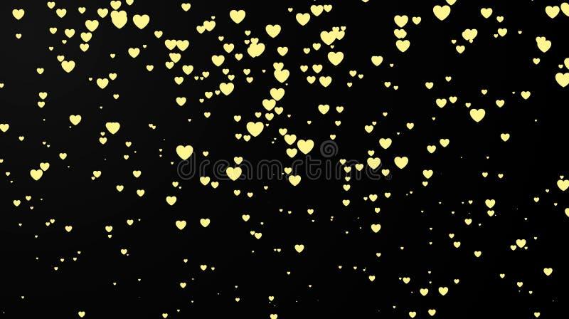 Mörk bakgrund med hjärtakonfettier 8 extra ai som kontroll för hälsning för mapp för eps för bakgrundskortdag nu över vita oavgjo stock illustrationer