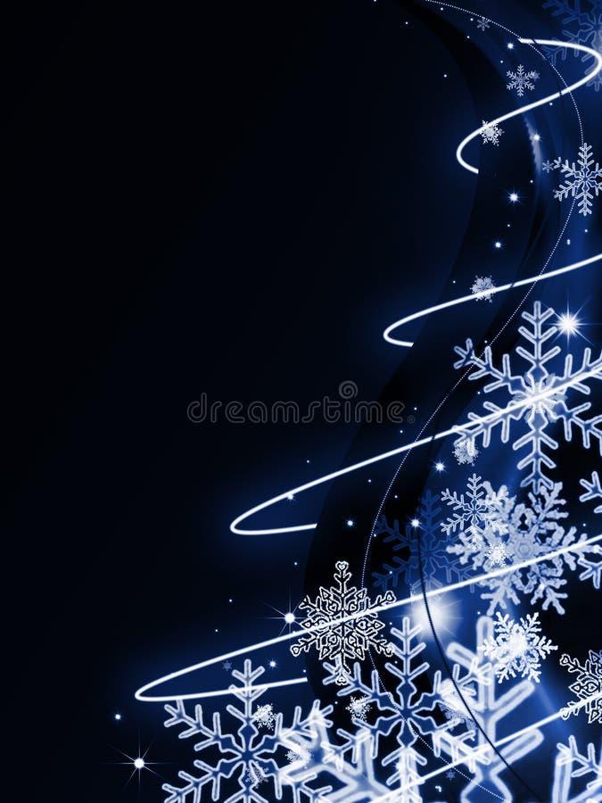 mörk blå jul för abstrakt bakgrund vektor illustrationer