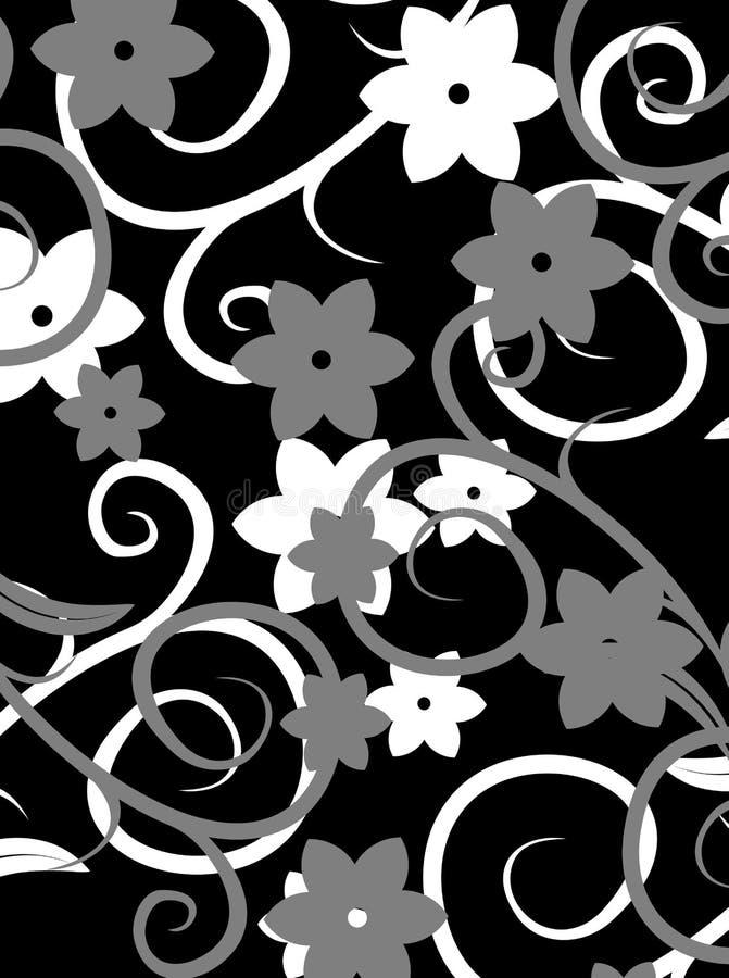 mörk blommatexturvektor vektor illustrationer