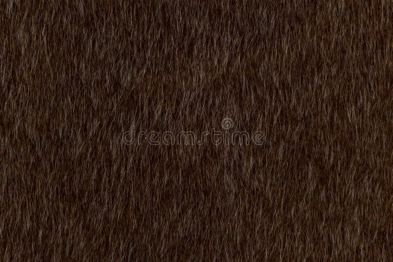 Mörk brun djurhårtexturbakgrund royaltyfri bild