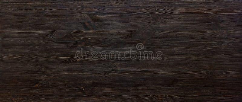 Mörk brun målad titelrad för design för baner för träskrivbordbakgrundstabell bred arkivfoton