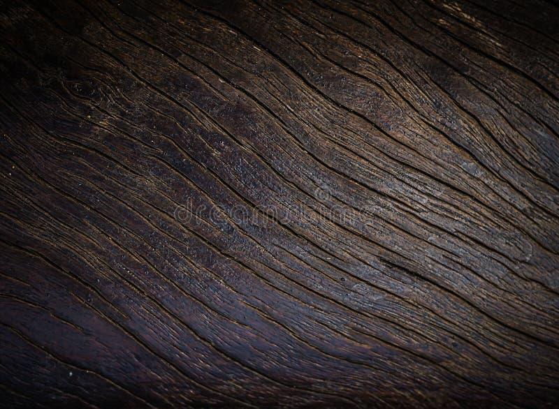 Mörk brunt för gammal wood textur royaltyfri foto