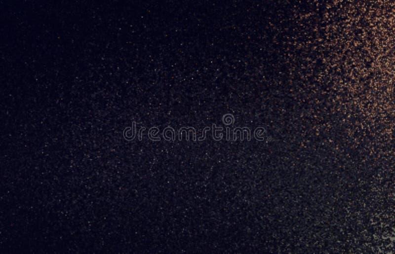 Mörk brunt skimrar bakgrund Dammigt texturabstrakt begrepp fotografering för bildbyråer