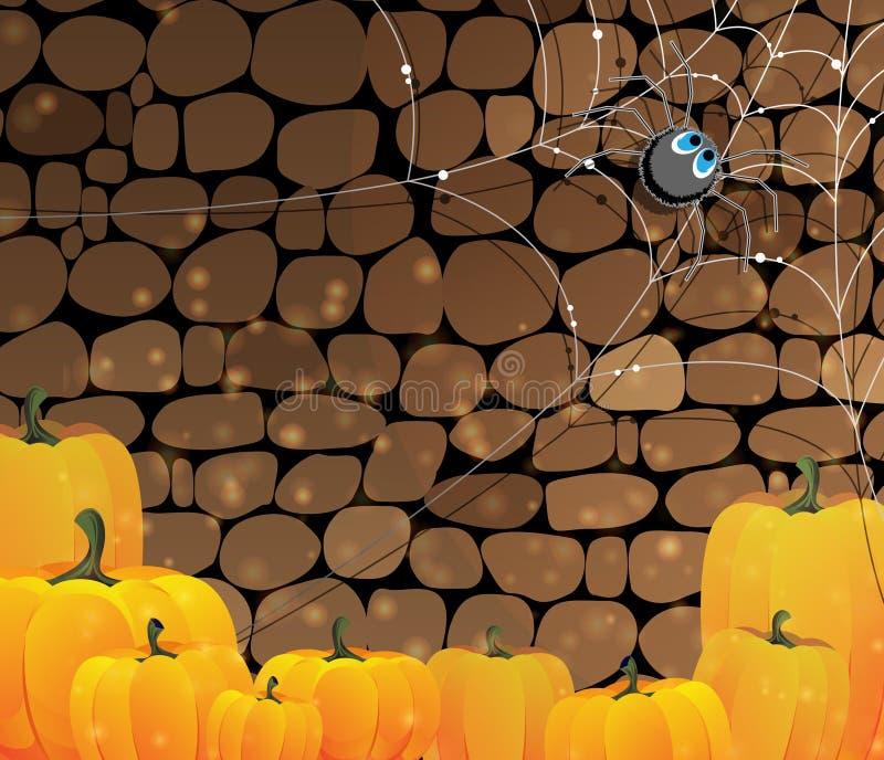 Mörk dungeon. Halloween bakgrund. vektor illustrationer