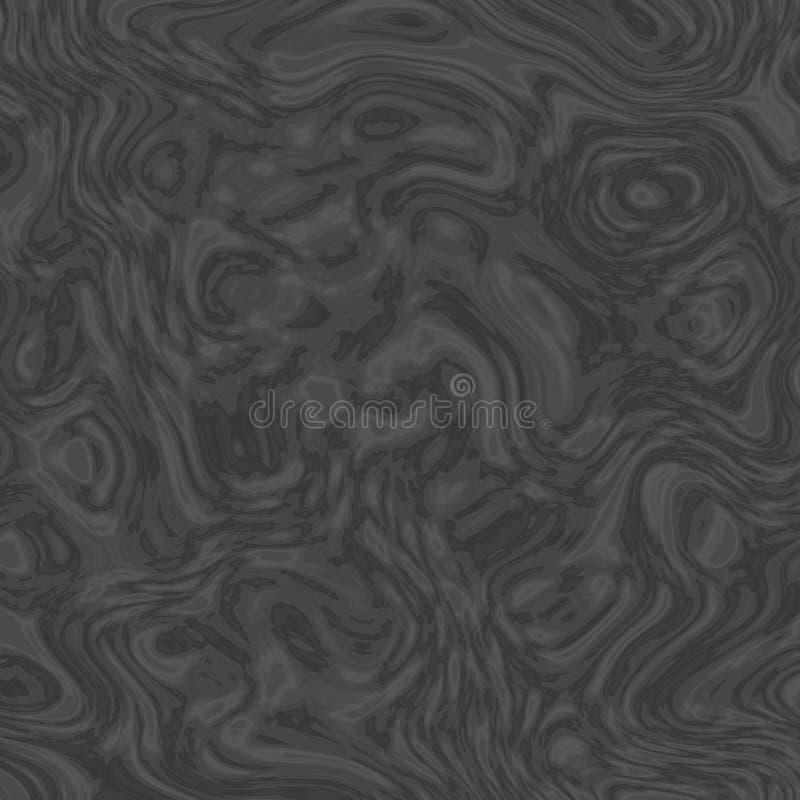 Mörk dynamisk sömlös fractalbakgrund stock illustrationer