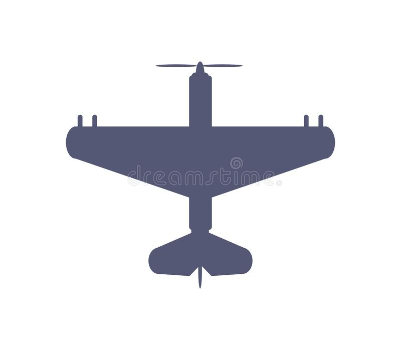 Mörk enkel flygplansymbol i plan stilvektor vektor illustrationer