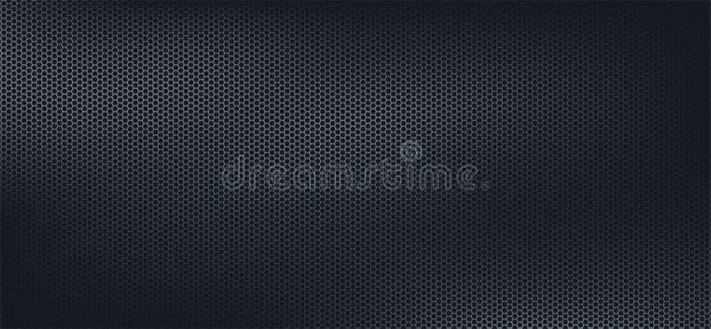 Mörk geometrisk polygonbakgrund, mörk abstrakt sexhörningstapet stock illustrationer