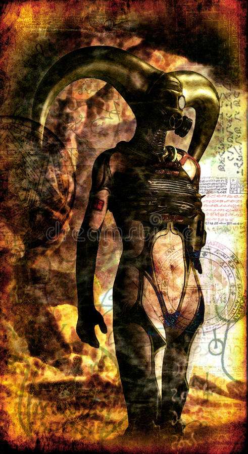mörk gotisk lady royaltyfri illustrationer