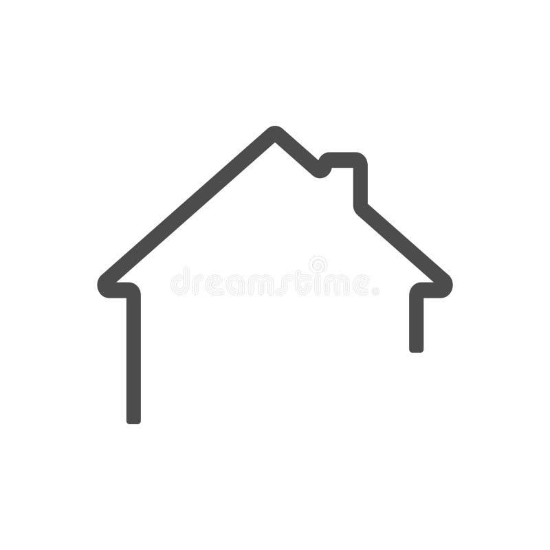 Mörk grå hem- översiktssymbolsvektor eps10 Hussymbolsöversikt home symbol royaltyfri illustrationer