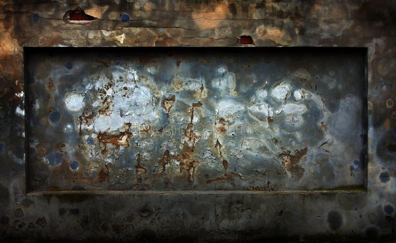 mörk grungevägg för abstrakt cement arkivbild