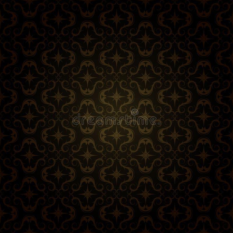 Mörk guld- modell royaltyfri illustrationer