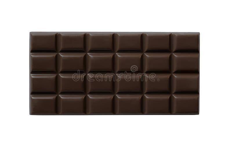mörk hög isolerad kvalitet för stångchoklad royaltyfria foton