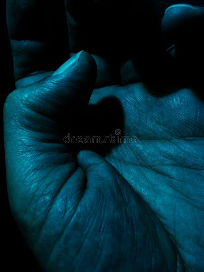 mörk hand royaltyfria foton