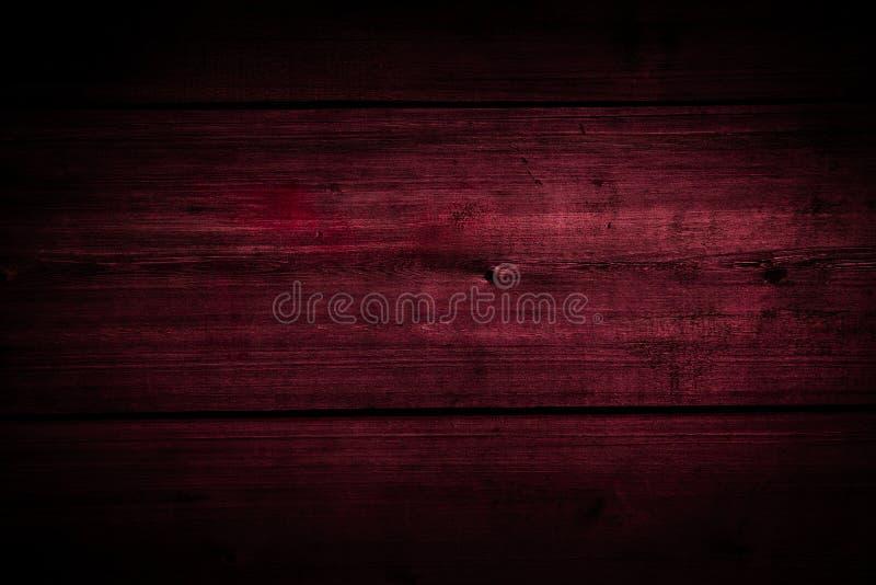 Mörk körsbärsröd wood textur arkivbild