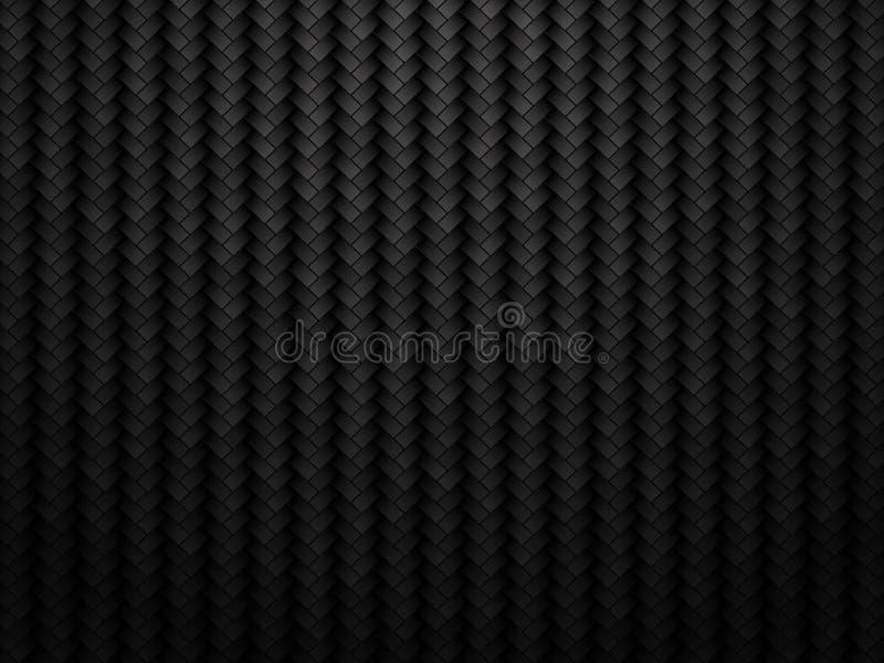 Mörk kolfiberbakgrund vektor illustrationer
