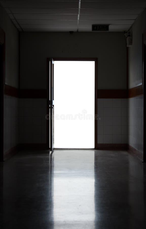 Mörk korridor  royaltyfri foto