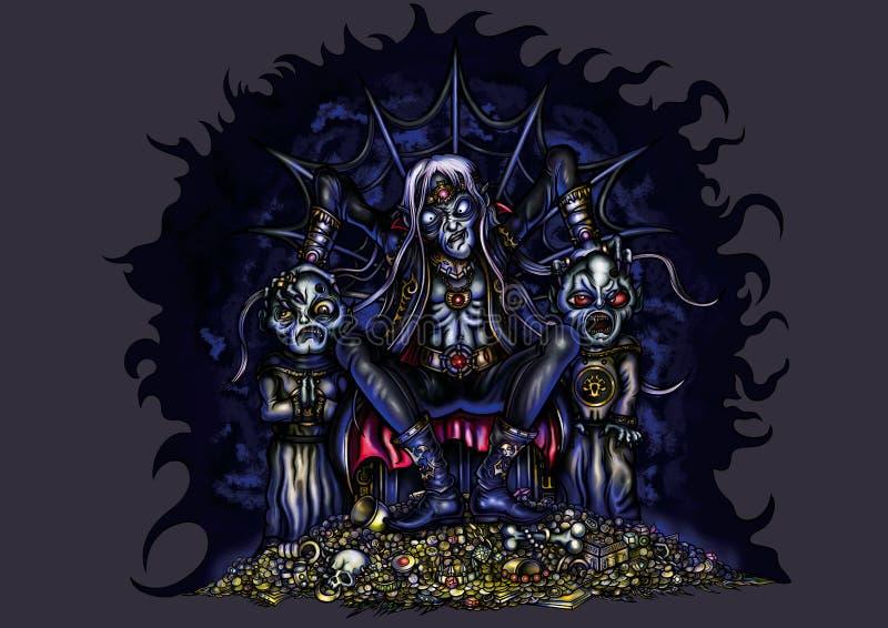 Mörk linjalvampyr royaltyfri illustrationer