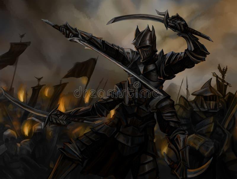 mörk lord stock illustrationer
