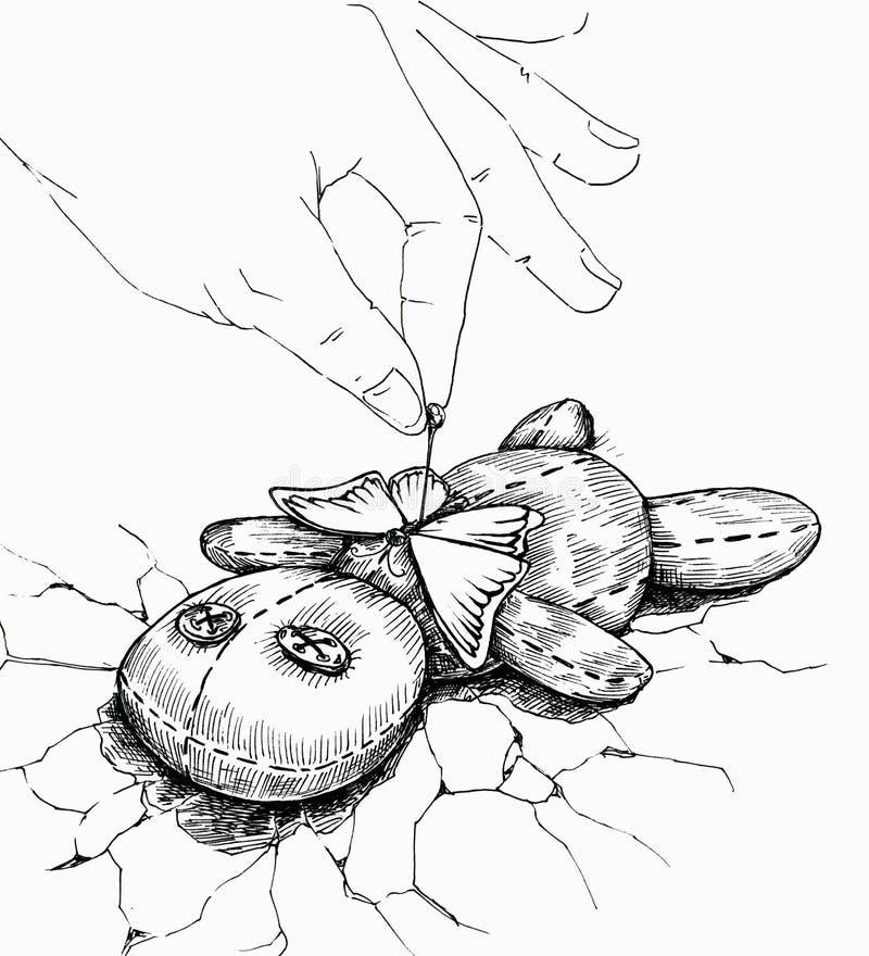 Mörk magi av unrequited förälskelse stock illustrationer