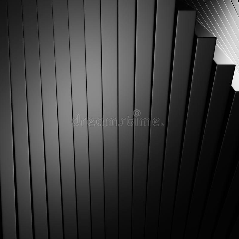 Mörk metallisk bakgrund för abstrakt band för silver aluminium stock illustrationer
