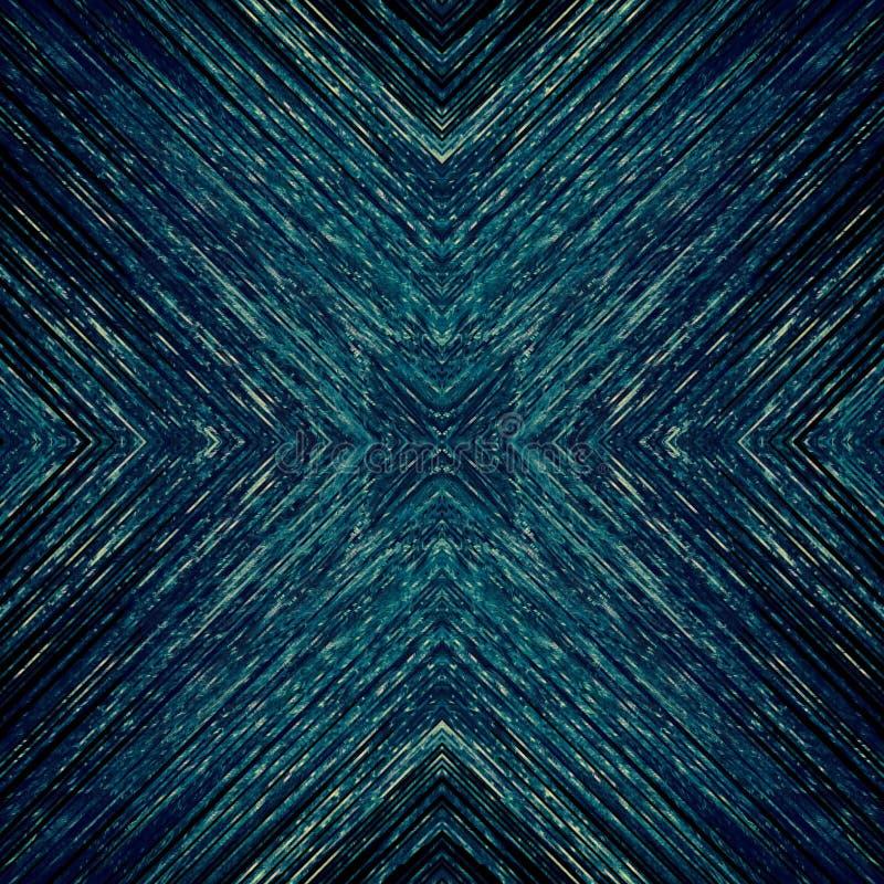 Mörk modell för blåa PIXEL med fina guld- strukturer royaltyfri illustrationer