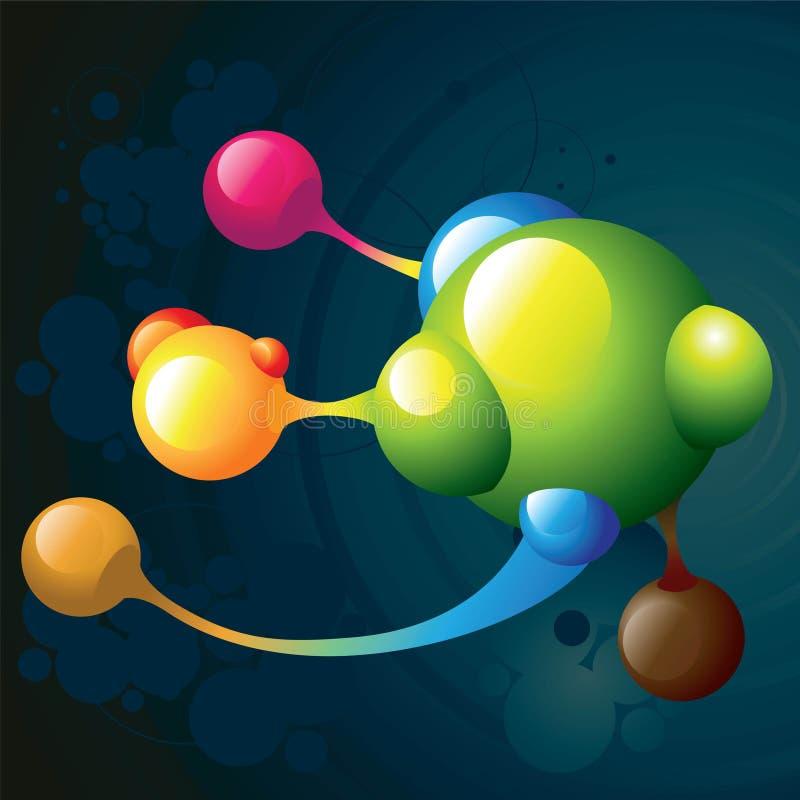 mörk molekyl royaltyfri illustrationer
