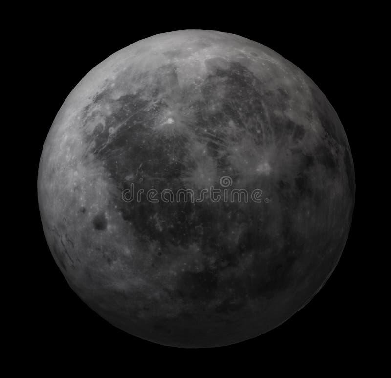 mörk moonsida stock illustrationer