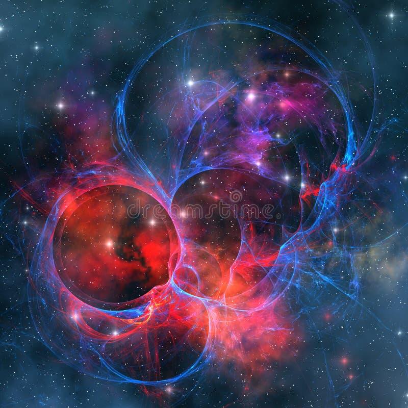 mörk nebula vektor illustrationer