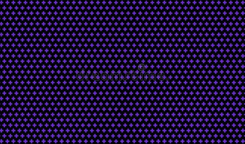 Mörk purpurfärgad bakgrund med kors Abstrakt modell i minimalist stil Scalable vektordiagram stock illustrationer