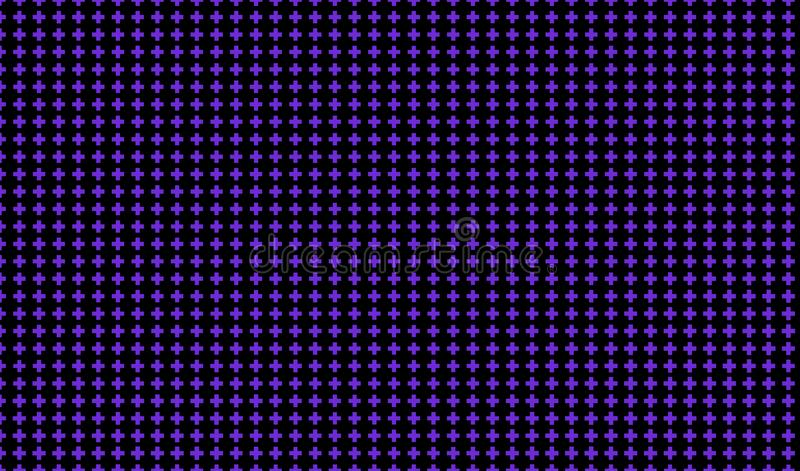 Mörk purpurfärgad bakgrund med kors Abstrakt modell i minimalist stil Scalable vektordiagram royaltyfri illustrationer