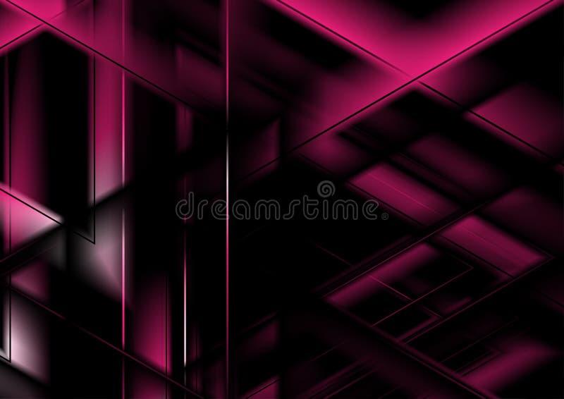 Mörk purpurfärgad glödande glansig polygonal bakgrund vektor illustrationer