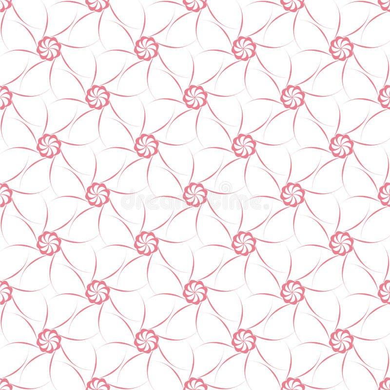 Mörk rosa modell på vit bakgrund seamless modell royaltyfri illustrationer