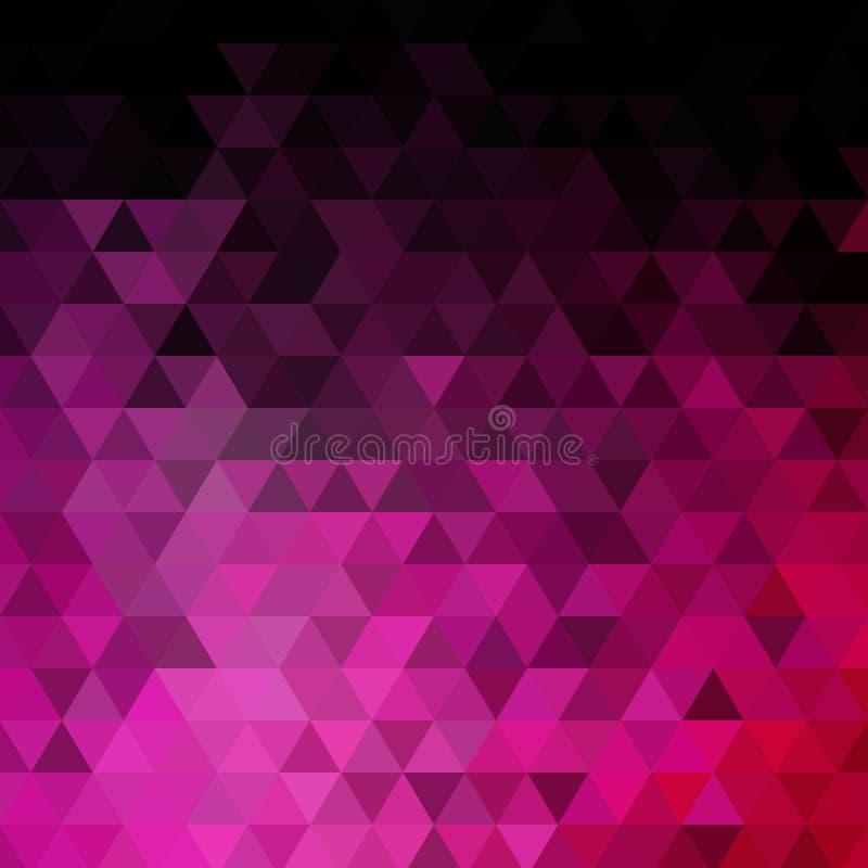 mörk rosa triangulär bakgrund Mosaisk stil 10 eps royaltyfri illustrationer
