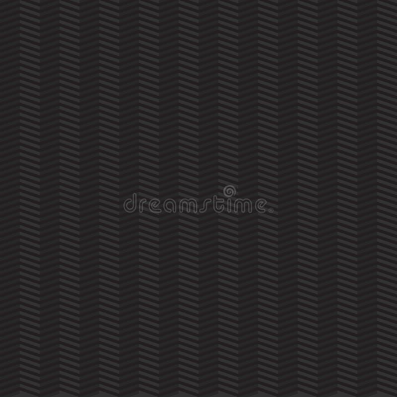 Mörk sömlös geometrisk modell med sicksackar stock illustrationer