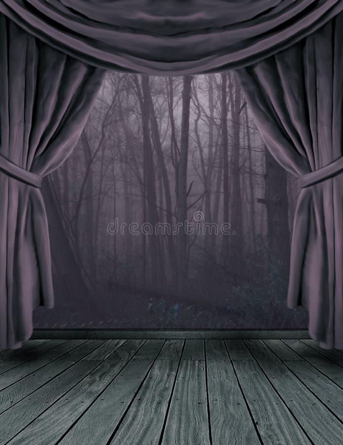 mörk skogetapp royaltyfri illustrationer