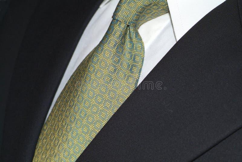 mörk slipssilkdräkt arkivbild