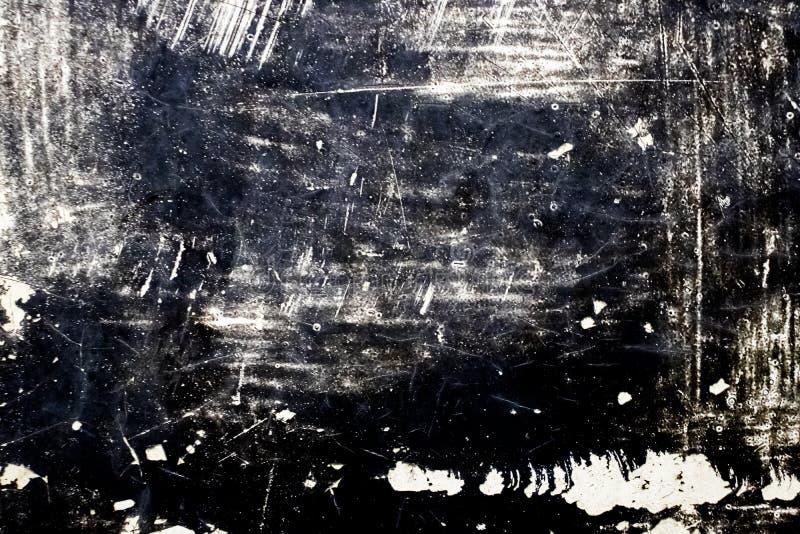 Mörk smutsig bakgrund för dammsamkopieringsnödläge Att att skapa prucken, skrapad, tappningeffekt för abstrakt begrepp med oväsen arkivbild